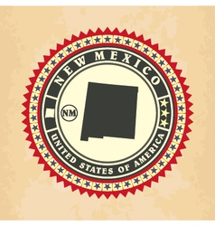 vintage label-sticker cards new mexico vector image
