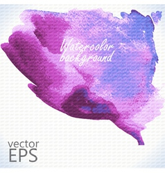 Watercolor hand painted shape vector image vector image