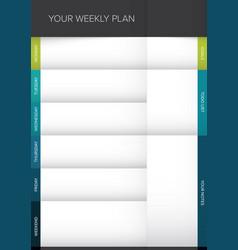 weekly planner template vector image