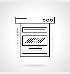 blog web page flat line icon vector image vector image