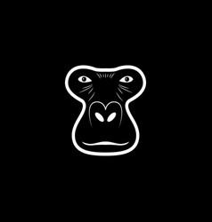 gorilla head logo animal mascot logotype vector image vector image