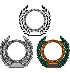 set of frames with laurel wreaths vector image vector image