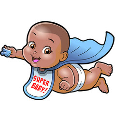 super baby african american cartoon clipart ai vector image vector image