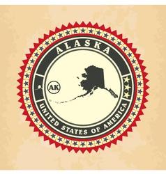 Vintage label-sticker cards of Alaska vector image vector image