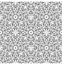Black and White Color Geometric Pattern vector image