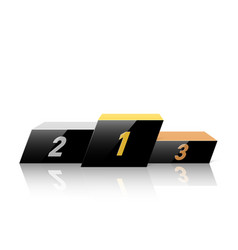 black podium for winners in dynamic style vector image