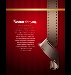 camera film roll on wallpaper red background vector image vector image