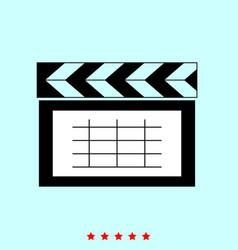 cinema clapper set it is color icon vector image