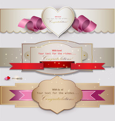 Congratulations Banners and Ribbons vector image vector image