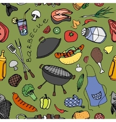 Doodle patern barbecue vector image vector image