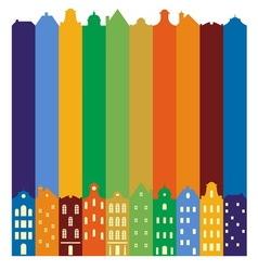 European cityscape Skyline Silhouette of vector image vector image