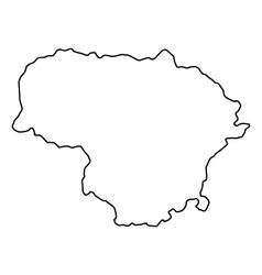 Map of Lithuania vector image vector image