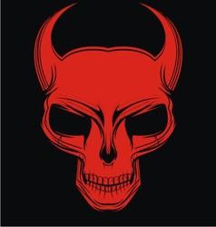 Red Demon Head vector image vector image