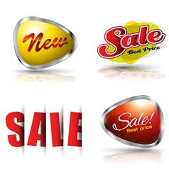 Sale and new banner set vector image vector image