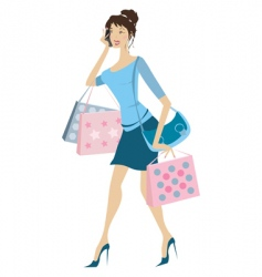 busy woman vector image vector image