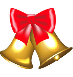 Golden bells with bow vector