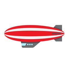 airship blimp flat icon transport and air vector image