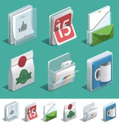 Basic Printing icons vector image