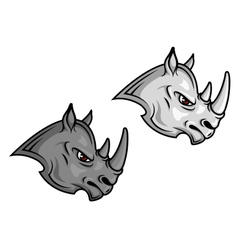Cartoon rhino mascots vector image vector image