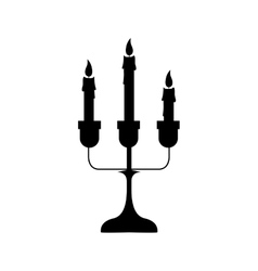 chandelier with candles icon image vector image