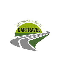 road icon for tourist travel agency vector image