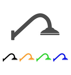 Shower pipe icon vector