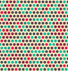 vintage circle seamless pattern with grunge effect vector image vector image