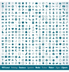 400 various icons symbols and design elements vector