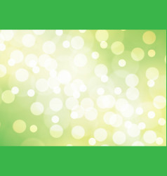 Abstract white bokeh on green yellow background ve vector