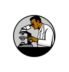 african american research scientist mascot vector image