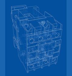 automatic circuit breaker concept vector image