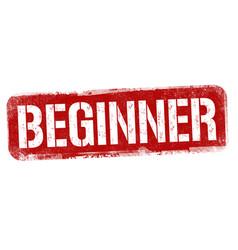 beginner sign or stamp vector image