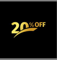 Black banner discount purchase 20 percent sale vector