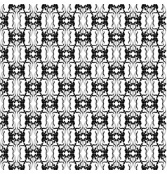black decorative pattern vector image