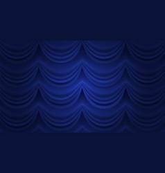 Blue curtain closed curtain background vector