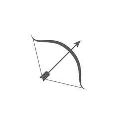 Bow and arrow icon on white background vector