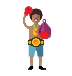 Boxing success flat style colorful cartoon vector