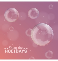 bubbles on a colorful background vector image
