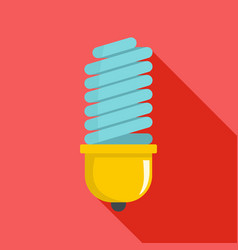bulb icon flat style vector image