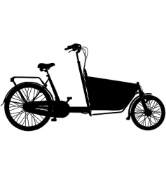 cargo bicycle vector image