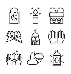 celebration ramadan arabic islamic celebration vector image