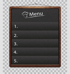 chalkboard for restaurant food menumenu boards vector image