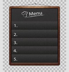Chalkboard for restaurant food menumenu boards vector