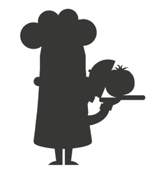 Chef character man icon vector