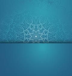 Circle lace hand-drawn ornament card vector image