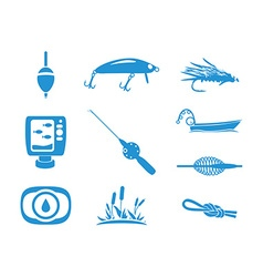 Collection of Fishing icons vector image