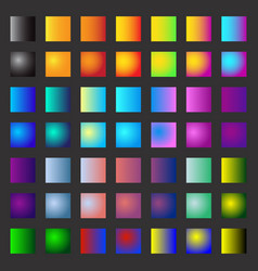 Color gradients for your design vector