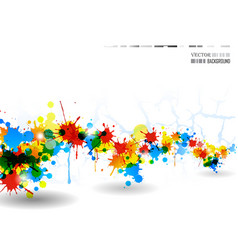colour splash poster vector image