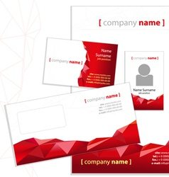 Company style red vector