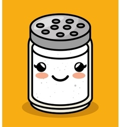 cute kawaii salt meal vector image